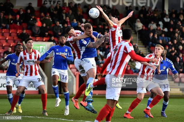 David Wheater of Oldham Athletic during the Sky Bet League 2 match between Cheltenham Town and Oldham Athletic at the Abbey Business Stadium,...