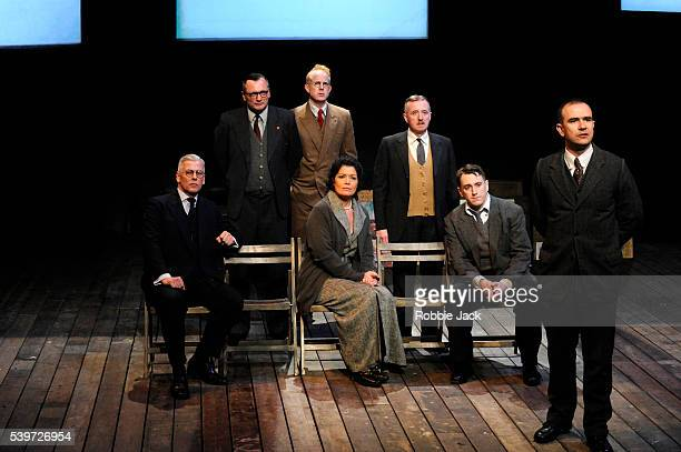 David Whitaker Deka Walmsley Michael Hodgson Ian Kelly Phillippa Wilson Brian Lonsdale and Christopher Connel perform in the production The Pitmen...