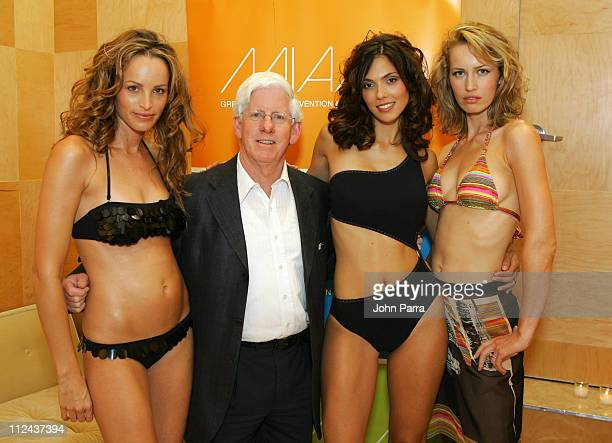 David Whitaker Senior Vice President of Marketing Tourism Greater Miami Convention Visitors Bureau with models