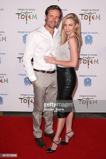 David Whitehill and Christie Whitehill arrives at Cirque du Soleil TOTEM Sydney Premiere on October 28 2014 in Sydney Australia