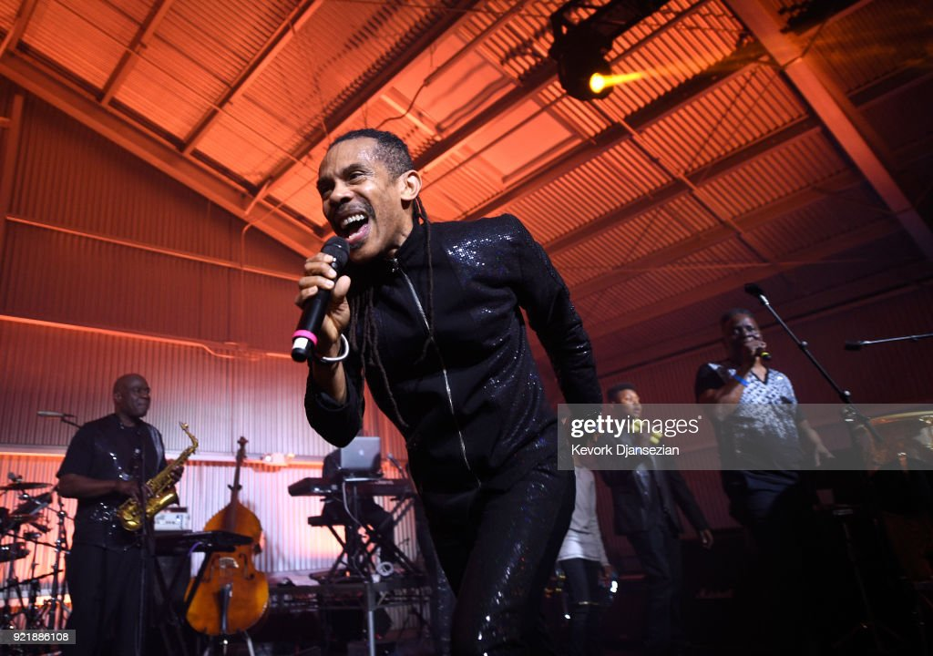 B. David Whitworth performs onstage at will.i.am's i.am.angel Foundation TRANS4M 2018 Gala, Honoring Sean Parker, Chairman, Parker Institute for Cancer Immunotherapy at Milk Studios on February 20, 2018 in Hollywood, California.