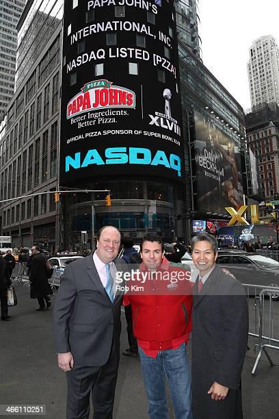 David Wicks Vice President at NASDAQ QMX John H Schnatter Founder Chairman CEO of Papa John's International Inc and Tuan Le director of NASDAQ OMX...
