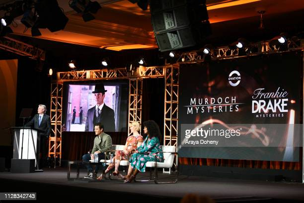David Widerøe Yannick Bisson Lauren Lee Smith and Chantel Riley at Ovation Presents Upcoming Programming at 2019 Winter TCA Tour With Julia Stiles...