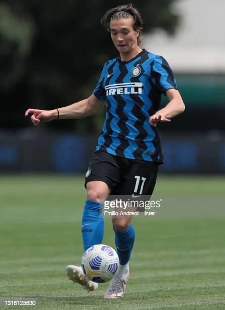 David Wieser of FC Internazionale U19 in action during the Primavera 1 TIM match between FC Internazionale U19 and ACF Fiorentina U19 at Stadio Breda...