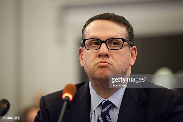 David Wildstein former director of Interstate Capital Projects for the Port Authority of New York and New Jersey listens during a hearing at the...
