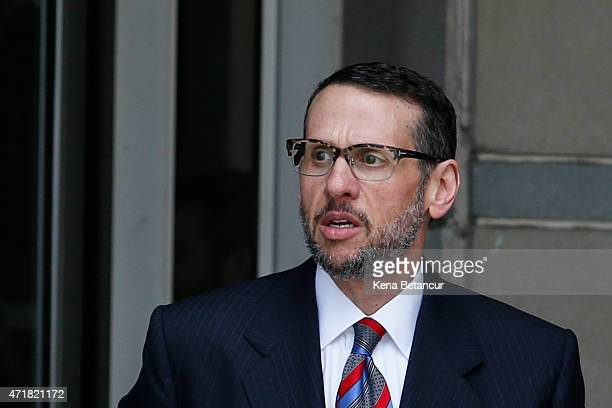 David Wildstein former Port Authority appointee of New Jersey Gov Chris Christie leaves the Federal Court on May 01 2015 in Newark Wildstein plead...