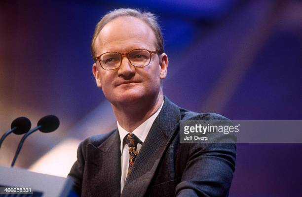David Willetts speaking at the Conservative Party conference 2000 MP Cons Shadow Secretary of State for Social Security giving a speech at the annual...