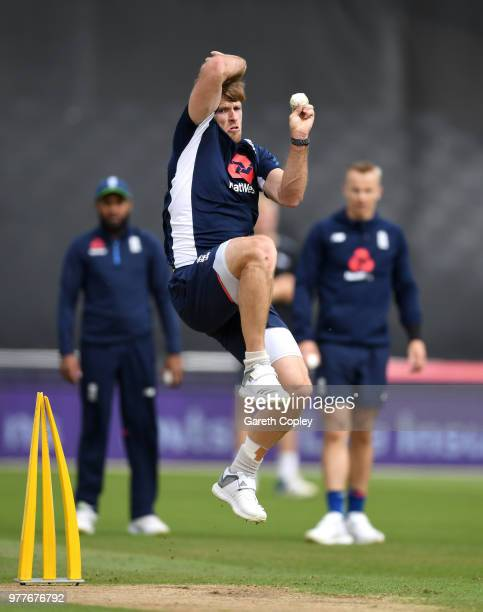 Jason Roy of England during a nets session at Trent Bridge on June 18 2018 in Nottingham England