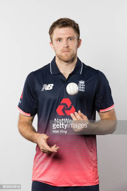 David Willey of England poses during the England One Day International series headshots session at Sydney Cricket Ground on January 10 2018 in Sydney...