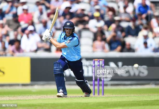 David Willey of Yorkshire batting during the Royal London One Day Cup match between Lancashire and Yorkshire Vikings at Old Trafford on June 5 2018...