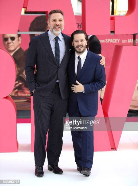 David Williams and Edgar Wright attend the European premiere of 'Baby Driver' on June 21 2017 in London United Kingdom