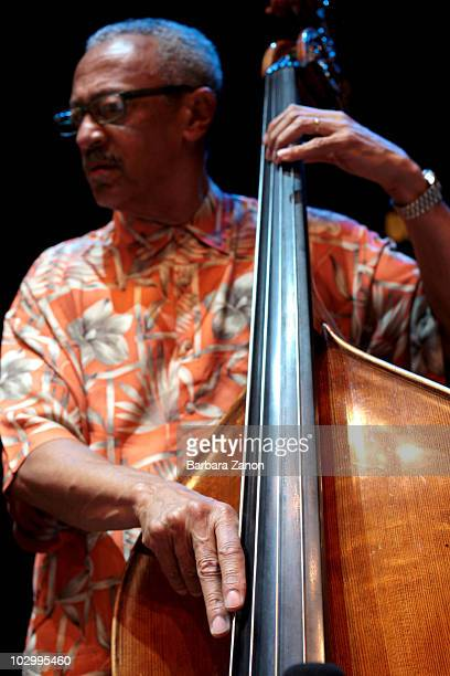 David Williams of Bobby Hutcherson and Cedar Walton quartet performs on stage during Umbria Jazz Festival on July 13, 2010 in Perugia, Italy.
