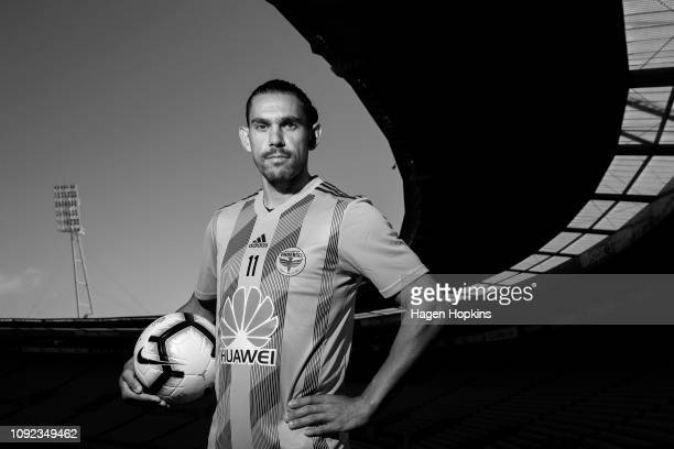 David Williams poses during a Wellington Phoenix training session at Westpac Stadium on January 11 2019 in Wellington New Zealand