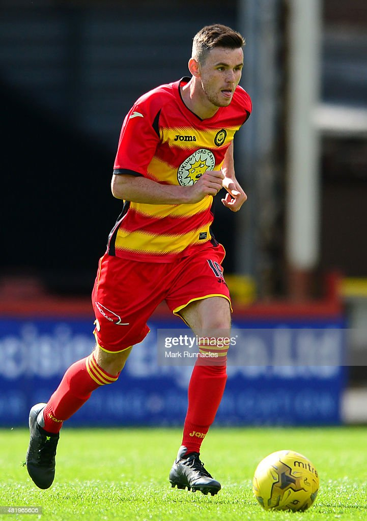 David Wilson of Patrick Thistle in action during a preseason friendly match between Patrick Thistle FC and Rotherham United at Firhill Stadium on July 25, 2015 in Glasgow, Scotland.