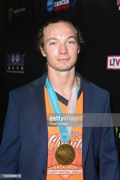 David Wise attends 50K Charity Challenge Celebrity Basketball Game at UCLA's Pauley Pavilion on July 17 2018 in Westwood California