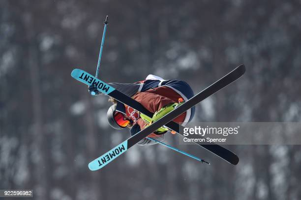David Wise of the United States competes during the Freestyle Skiing Men's Ski Halfpipe Final on day thirteen of the PyeongChang 2018 Winter Olympic...