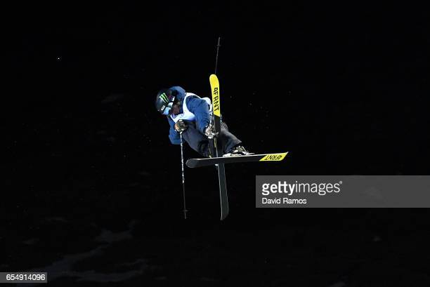 David Wise of the United States competes in the Final of the Men's Halfpipe on day eleven of FIS Freestyle Ski Snowboard World Championships 2017 on...