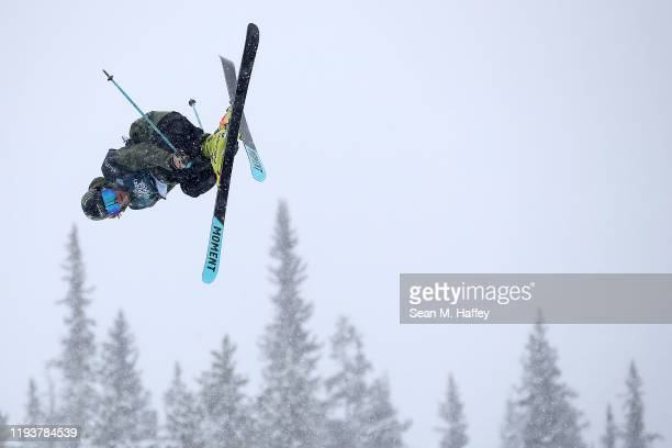 David Wise of the United States competes in the Men's Freeskiing Halfpipe Final on December 13, 2019 in Copper Mountain, Colorado. Wise finished in...