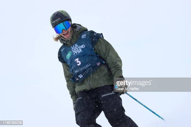 David Wise of the United States looks on after finishing second place in the Men's Freeskiing Halfpipe Final on December 13, 2019 in Copper Mountain,...