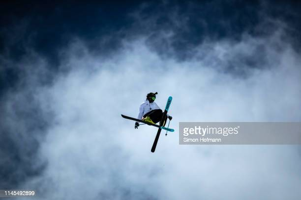 David Wise of the USA competes during the Audi Nines presented by Falken at Tiefenbachferner Glacier on April 27, 2019 in Soelden, Austria.