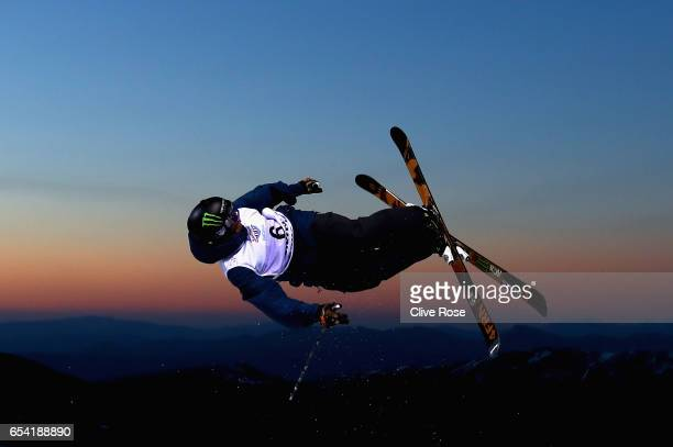 David Wise of USA in action during on Men's halfpipe training on day 8 of the FIS Freestyle Ski & Snowboard World Championships 2017 on March 15,...