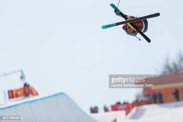 David Wise of USA takes 1st place during the Freestyle Skiing Men's Finals Ski Halfpipe at Pheonix Snow Park on February 22, 2018 in Pyeongchang-gun,...