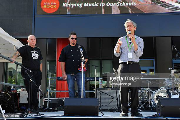 David Wish Chief Executive Officer Founder of Little Kids Rock Chef Dean Spinks and Chef Tony Castellucci attend the Little Kids Rock Family Jam...