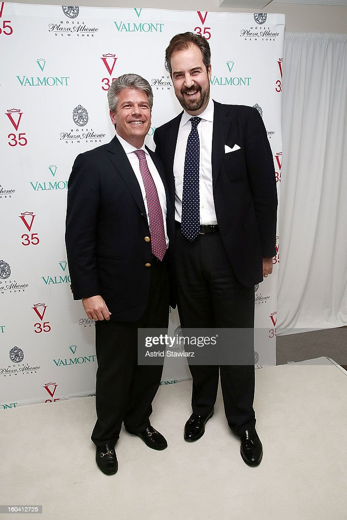 David Wolf and Alexander von Perfall attend the V35 Valmont SPA Launch Event at Plaza Athenee on January 30, 2013 in New York City.