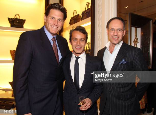David Wolkoff Andrew Lauren and Andrew Saffir attend Ralph Lauren Presents Exclusive Screening Of Hitchcock's To Catch A Thief Celebrating The...
