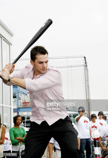 David Wright attends the Homers on The Hudson contest at the Chelsea Lighthouse at Pier 61 on July 14 2008 in New York City
