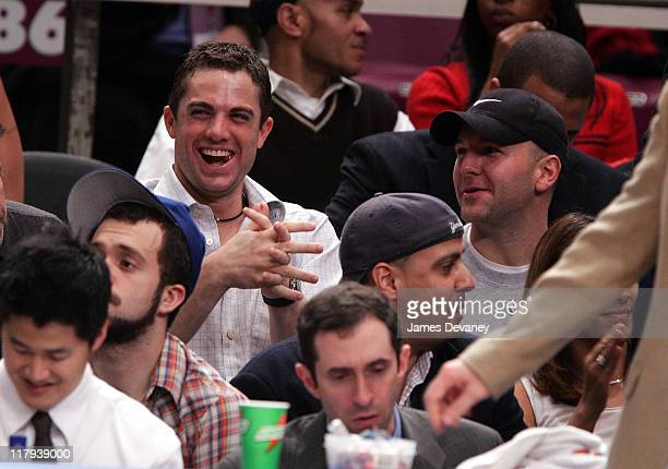 David Wright during Celebrities Attend Atlanta Hawks vs. New York Knicks Game - December 13, 2006 at Madison Square Garden in New York City, New...
