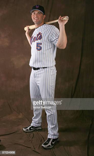 David Wright of the Mets poses for a portrait during the New York Mets photo day on February 24 2006 at Tradition Field in Port St Lucie Florida