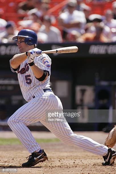 David Wright of the New York Mets bats during the game against the Florida Marlins at Shea Stadium on September 2 2004 in Flushing New York The...