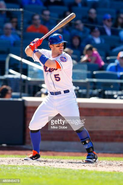David Wright of the New York Mets in action against the Atlanta Braves at Citi Field on April 20 2014 in the Flushing neighborhood of the Queens...