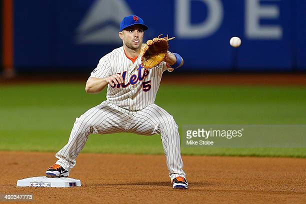 David Wright of the New York Mets in action against the New York Yankees on May 15 2014 at Citi Field in the Flushing neighborhood of the Queens...