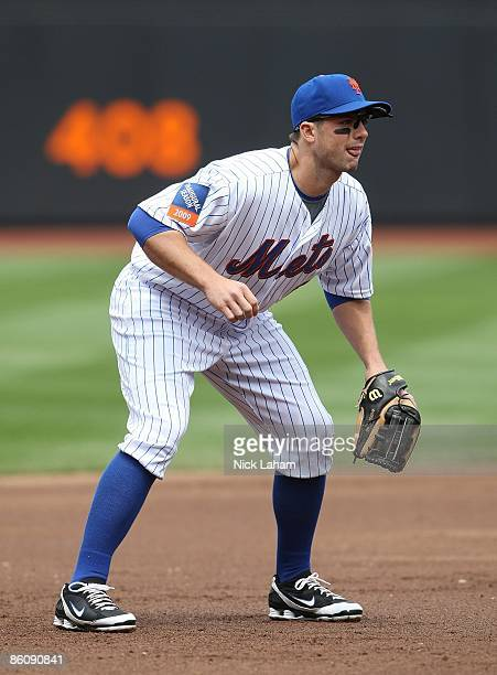 David Wright of the New York Mets in the field against the Milwaukee Brewers at Citi Field on April 19 2009 in the Flushing neighborhood of the...