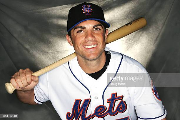 David Wright of the New York Mets poses during Photo Day on February 25 2007 at the Tradition Field in Port Saint Lucie Florida