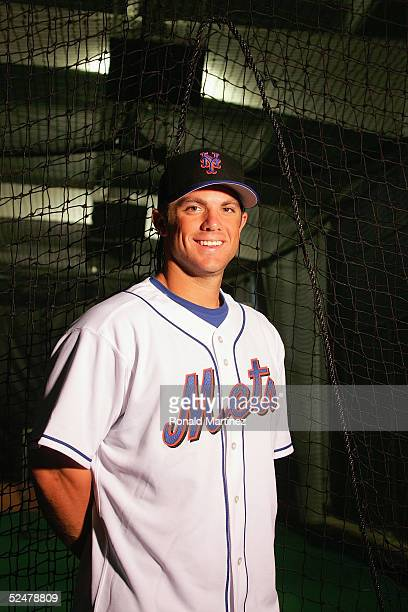 David Wright of the New York Mets poses for a portrait during Mets Photo Day at Tradition Field on February 27 2005 in Port St Lucie Florida
