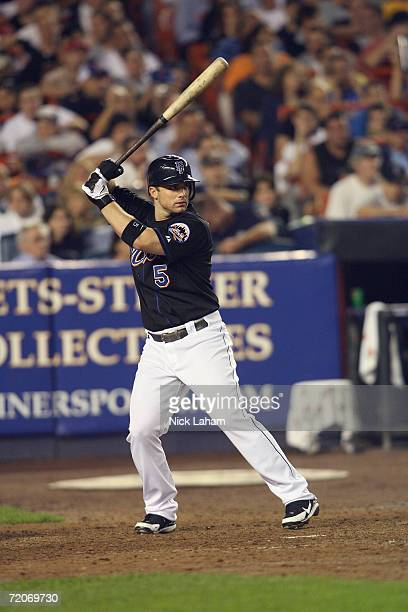David Wright of the New York Mets stands at bat against the Florida Marlins on September 18 2006 at Shea Stadium in Flushing New York