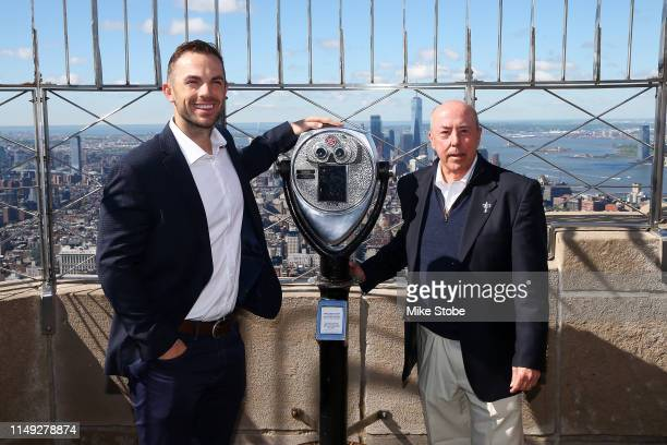 David Wright PGA Championship Ambassador and Charlie Robson General Chair of the 2019 PGA Championship pose for a photo at The Empire State Building...