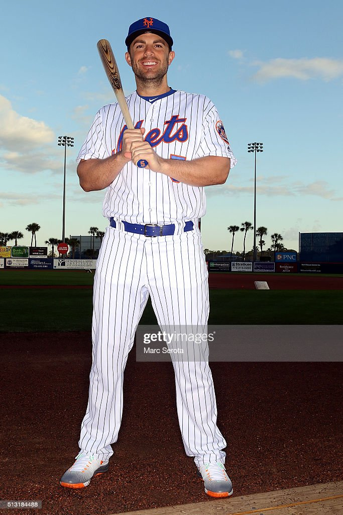 David Wright poses for photos during media day at Traditions Field on March 1, 2016 in Port St. Lucie, Florida.
