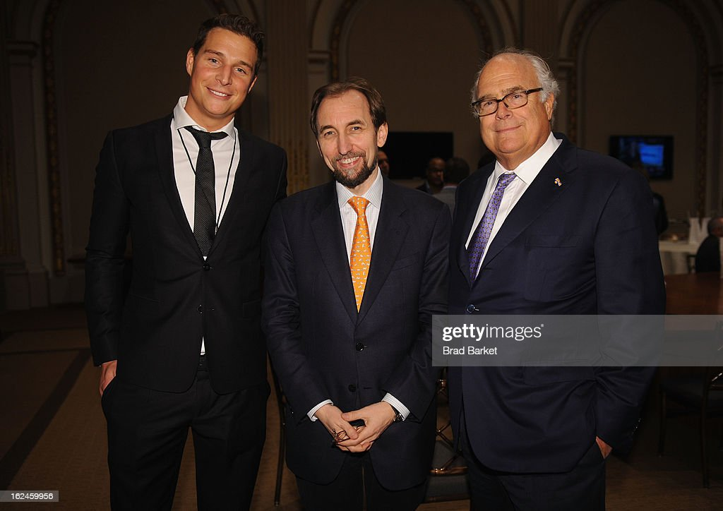 David Wyler, Prince Zeid Ra'ad Al-Hussein, and Joel Wyler attend Kairos Society Global Summit at New York Stock Exchange on February 23, 2013 in New York City.