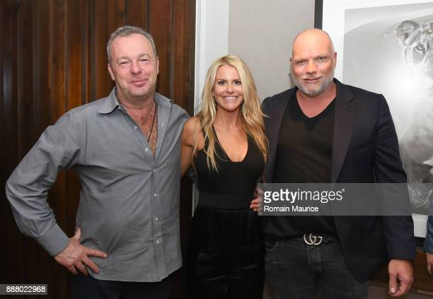 David Yarrow Christie Downs and Mike Downs attend Haute Living's VIP PopUp Opening Of Alec Monopoly From Art Life And David Yarrow From Medal's...