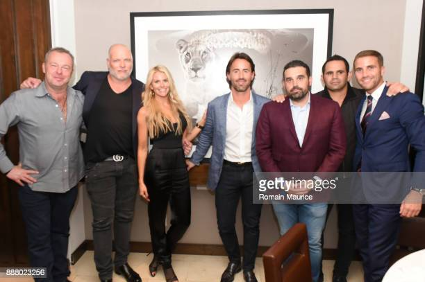 David Yarrow Mike Downs Christie Downs Jay Rutland Seth Leminof Eduardo Serio and Victor Blanquard attend Haute Living's VIP PopUp Opening Of Alec...