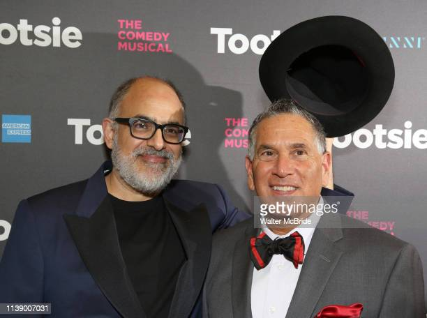 David Yazbek and Robert Horn attend the Broadway Opening Night of 'Tootsie' at The Marquis Theatre on April 22 2019 in New York City