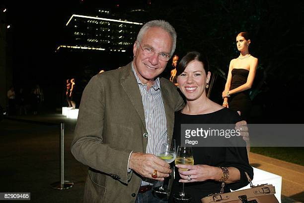 David Yurman and Glenda Bledsoe attend the DY VIP Dinner Hosted by David Yurman at Nasher Sculpture Center on September 17, 2008 in Dallas, Texas.