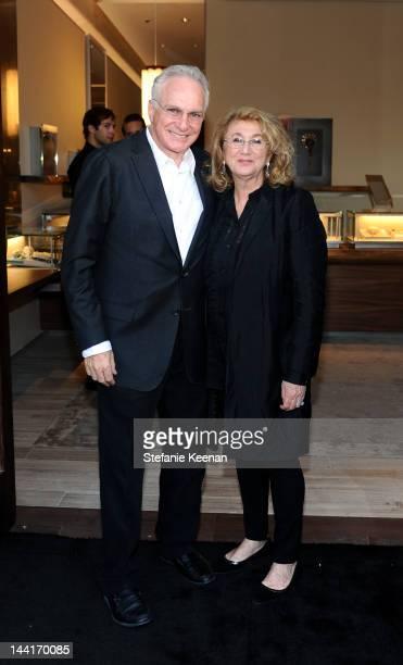 David Yurman and Sybil Yurman attend the opening of David Yurman's Beverly Hills flagship at David Yurman Boutique on May 10, 2012 in Beverly Hills,...