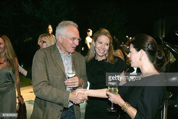 David Yurman, Cindy Rachofsky and Brooke Hortenstine attend the DY VIP dinner hosted by David Yurman at Nasher Sculpture Center on September 17, 2008...