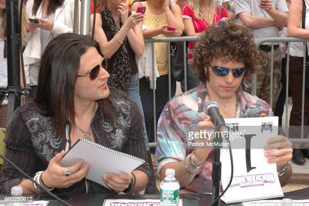 David Z and Paulie Z attend IFC CELEBRATES SEASON 2 OF ROCK WITH AMERICA'S HOTTEST ROCKER MOM CONTEST at Madison Square Park on June 3 2009 in New...