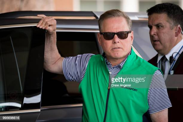 David Zaslav chief executive officer of Discovery Communications arrives at the Sun Valley Resort for the annual Allen Company Sun Valley Conference...